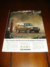 1994 LAND ROVER DISCOVERY - Jungles Of Madagascar - Original Ad