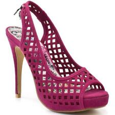 Iron Fist Size 6 High & Dry Pink Platform Skull charm Peep Toe Heels Shark Cage