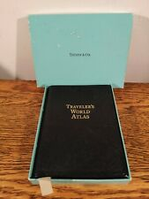 HIGHLY COLLECTIBLE VINTAGE TIFFANY & Co TRAVELLERS WORLD ATLAS WITH ORIGINAL BOX