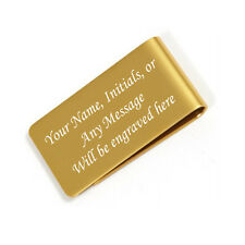 Personalized Free Engraved Gold Money Clip Plus free Shipping