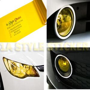 Scheinwerfer Folie Gelb Tönungsfolie Nebelscheinwerfer 100 x 30cm Folierung