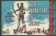Programme Cinerama Movie 7 Maravillas Del Mundo