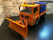 Bruder Toys 02767 MAN TGA Winter Service Snow Plow Truck with Blade