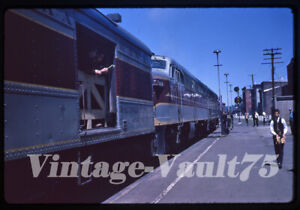 ORIGINAL SLIDE EL ERIE LACKAWANNA PORT JERVIS NEW YORK KODACHROME 1962