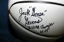 "JACK GOOSE GIVENS SIGNED NIKE BASKETBALL KENTUCKY WILDCATS  ""78 NCAA CHAMPS MVP"""