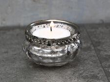 Chic Antique Porte-bougies photophore avec perles déco rustique SHABBY VINTAGE