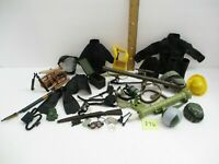 Hasbro 21st Century GI JOE Ultimate Soldier Huge Lot-Flippers Weapons Dog Tags +