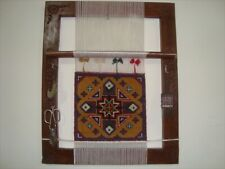 Exclusive Hand Made Wooden Rug Loom & Hand Knotted Rug (1.6 x 1.3)'