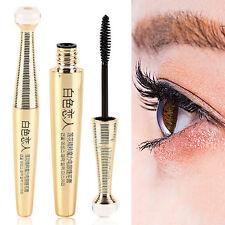 3D Fiber Mascara Cosmétique Extension Long Cils Yeux Waterproof Maquillage Noir