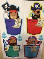 PIRATES with sayings wall stickers 8 decals kid's decor anchors Aye Aye Captain