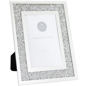 Crushed Crystal Diamond Mirror Picture Photo Frame Choice of Size