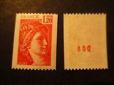 Timbre - FRANCE - Sabine de Gandon 1F20 - n° rouge  - 1981 - neuf ** - n° 1981Ba