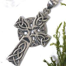 sehr edles keltisches Druiden Kreuz Anhänger 925 Silber Kelten Kreuz HOCHKREUZ