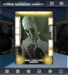 Topps Star Wars Card Trader - DROIDS SERIES 2 - 8D8 TORTURE DROID (Yellow)