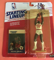 MICHAEL JORDAN VINTAGE 1988 ROOKIE STARTING LINEUP WITH ROOKIE CARD - UNOPENED