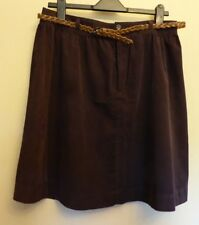 M&Co Uk14p Eu42p Us10p Damson Belted Needlecord Skirt in 100 Cotton