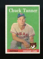 1958 Topps BB Card # 91 Chuck Tanner Chicago Cubs (b) NR-MINT