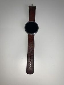 Motorola Moto 360 1st Gen Smartwatch With Brown Cognac Leather Band