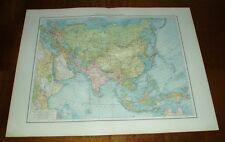 Übersichtskarte von Asien - Nord-Asien: 2 alte Landkarten (1901/1900)