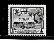 Guyana Stamp-Scott # 7/A60-1c-Mint/NH-1966-Overprinted-OG