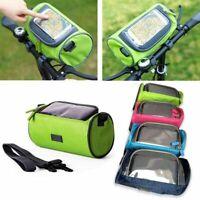 Accessoires de velo etanches Sac de guidon de bicyclette Sac tactile de fai G6W9