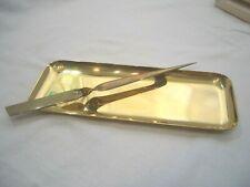 Schreibtisch Ablage Stiftablage Brieföffner Messing oder Bronze - Sammlerstück