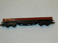 MARKLIN germany vintage WAGON train MARCHANDISES plat DB 496-391 RIV