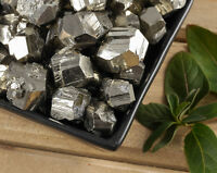 3 Raw PYRITE Stones - Fools Gold, Natural Pyrite Crystal Clusters E0244