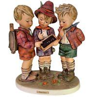 "1961 Goebel Hummel SCHOOL BOYS porcelain figurine doll  #170/1 - 7"" tall TMK-4"