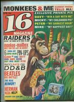 16 Magazine  April 1967 Monkees,Sonny & Cher, Herman Hermits,    MBX25