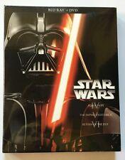 NEW STAR WARS TRILOGY EPISODES IV V VI BLU RAY DVD 6 DISC + SLIPBOX JEDI YODA