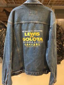 RARE Boxing Jacket.   Lewis vs Golota