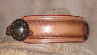 NEW Custom Hackamore Hand Tooled Leather Nose Band, Your Horses Name Free. G&E