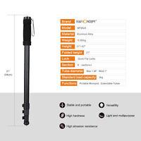 "K&F Concept 67"" Aluminum Alloy Camera Monopod for Canon Nikon Sony Lightweight"