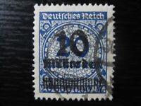 DEUTSCHES REICH Mi. #335A HT used stamp w/ Sprung im Korbdeckel! CV $42.00
