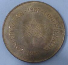1867-1967 CONFEDERATION  CANADA BRASS TOKEN ST#5