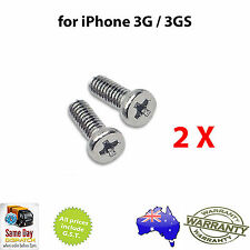 for iPhone 3G 3GS Dock Connector Phillips Bottom Screw X2 - FREE & FAST SHIPPING