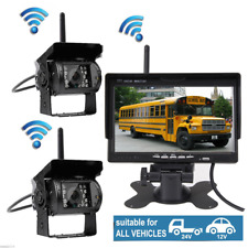"""Wireless Rear/Side View Backup System Dual Camera+7"""" HD Monitor For Truck RV VAN"""