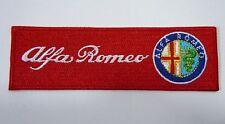 "Alfa Romeo Iron-On Automotive Car Patch 4.5"" Strip - Original Design Patch"