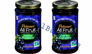 2 Polaner All Fruit Seedless Blackberry Spreadable Fruit 10 oz Jar