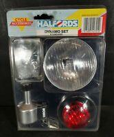 Vintage Halfords Bicycle Dynamo Lighting set NEW Vintage Retro Bike