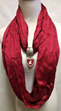 Washington State Cougars Licensed Pendant on a Crimson  team color circle scarf
