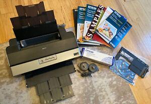 Epson Photo R1900 Digital Photo Inkjet Printer - Powers On (Needs Ink) W/ EXTRAS