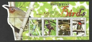 PHILIPPINES 2019 BIRDS ODD SHAPED SOUVENIR SHEET OF 4 STAMPS IN MINT MNH UNUSED