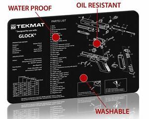 "TekMat® Gun Cleaning and Repair Mat for Glock Pistols, 11"" x 17"" Neoprene Rubber"
