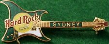 Hard Rock Cafe SYDNEY 1998 GREEN Aria GUITAR PIN - HRC Catalog #9455 Clasp Back