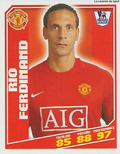 N°277 RIO FERDINAND MANCHESTER UNITED Premier League 2008-2009 TOPPS STICKER