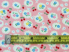 Per Metro Rosa Ditsy Fiori Di Ciliegio/100% cotone tessuto a fiori ciliegio shabby chic