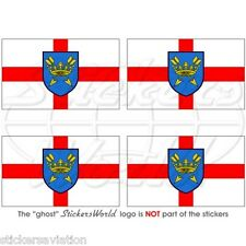 "Suffolk Bandera East Anglia Ipswich Inglés 50mm (2 "") bumper-helmet sticker-decal X4"