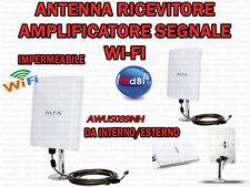 RICEVITORE AMPLIFICATORE SEGNALE WIFI IMPERMIABILE CAVO USB 5 MT 98 DBI ESTERNO